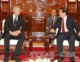 Chủ tịch nước Trương Tấn Sang tiếp các đại sứ đến chào từ biệt
