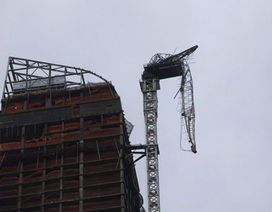 Cần trục tại tòa nhà chọc trời New York sập trong gió bão