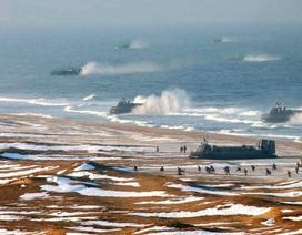 """Triều Tiên bị nghi """"nhân bản"""" thêm tàu đệm khí vào ảnh tập trận"""