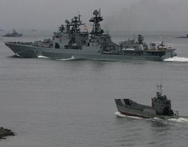Tàu chiến Nga tập bắn trên Biển Đông