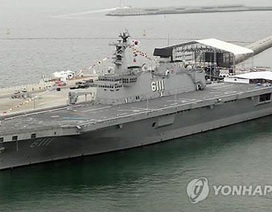 Tàu chiến lớn nhất của Hàn Quốc bốc cháy
