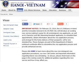 Mỹ áp dụng dịch vụ xin visa mới tại Việt Nam