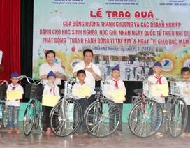 Tặng 100 xe đạp cho học sinh nghèo học giỏi nhân dịp Tết Thiếu nhi