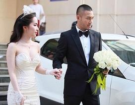 """""""Cá sấu chúa"""" Quỳnh Nga rạng rỡ bên Doãn Tuấn trong ngày cưới"""