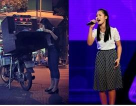 Ước mơ của cha con thí sinh The Voice Kids hát rong, bán kẹo kéo