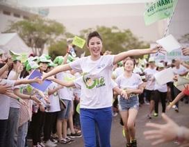 """Hoa hậu Ngọc Hân hết mình cùng """"Ngày trái đất"""""""