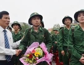 550 thanh niên Huế lên đường nhập ngũ