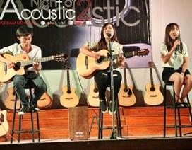 """6 trường Đại học """"cháy"""" cùng đêm nhạc Acoustic gây quỹ từ thiện"""