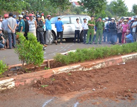 Đang trồng cây, bị ô tô tông chết