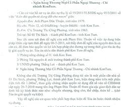 Bài 6: thiệt hại nghiêm trọng vì văn bản của TAND TP Kon Tum