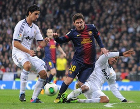 Real Madrid hòa may mắn Barcelona tại Bernabeu