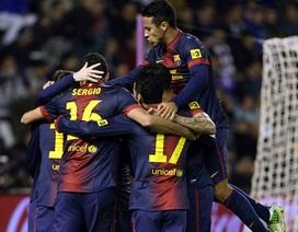 Barcelona chiến thắng trong ngày chào đón chức vô địch