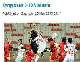 Website của AFC nhầm tỷ số chiến thắng của nữ Việt Nam