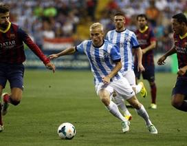 Nhọc nhằn hạ Malaga, Barcelona vững ngôi đầu bảng