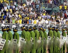 An ninh được thắt chặt trước trận XMXT Sài Gòn - SL Nghệ An