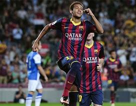 """""""Song sát"""" Messi-Neymar giúp Barca thắng đậm Sociedad"""