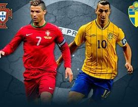 Bồ Đào Nha - Thụy Điển: Ngày C. Ronaldo quyết đấu Ibrahimovic