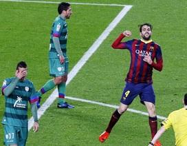 """""""Hủy diệt"""" Levante, Barcelona tiến vào bán kết Cúp Nhà vua"""