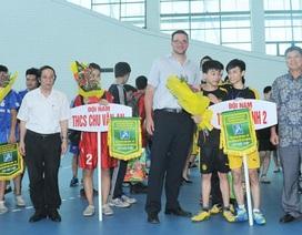 Sôi động giải bóng ném trung học cơ sở Hà Nội