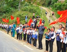 Điện Biên Phủ rực rỡ cờ hoa chào mừng đoàn đua