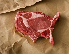 Bản đồ nước Mỹ bằng… thịt bò