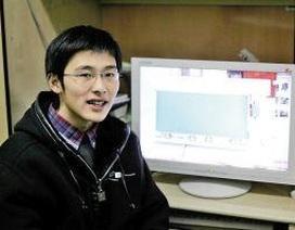 Chàng sinh viên và phát minh bảng tự động xóa bụi phấn