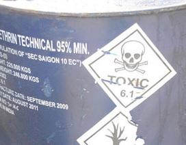 Phát hiện hàng trăm thùng phuy dính hóa chất độc hại
