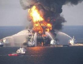 Mỹ: Dàn khoan dầu bốc cháy ngùn ngụt đã bị chìm