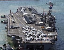 Siêu hàng không mẫu hạm Mỹ cập cảng Hàn Quốc