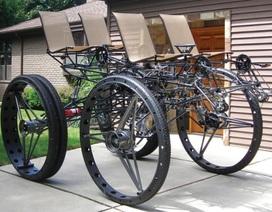 """Xe đạp 4 chỗ, 4 bánh """"siêu khủng"""""""