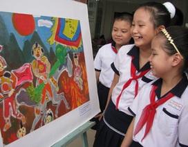 Thiếu nhi Đà Nẵng vẽ 100 bức tranh mừng Đại lễ
