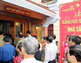 Khánh thành công trình tu bổ đền thờ Lăng Phùng Hưng