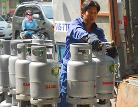 Giá gas tăng thêm 5.000 đồng/bình 12 kg