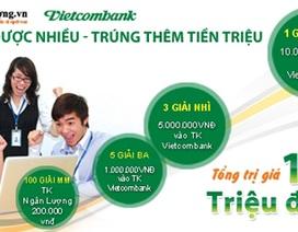 Cơ hội trúng lớn khi nạp tiền thanh toán qua cổng Nganluong.vn