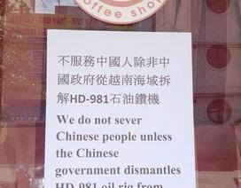 Quán cà phê từ chối phục vụ khách Trung Quốc