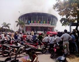 Công an vào cuộc điều tra vụ hỏa hoạn tại Trung tâm văn hóa tỉnh