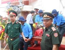 An táng 50 hài cốt liệt sĩ hy sinh tại Lào