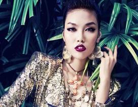 """""""Chân dài"""" Lan Khuê dự thi siêu mẫu châu Á 2012"""