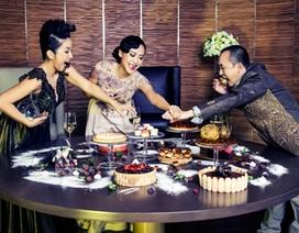 """Mỹ Linh, Hồng Ánh và Quốc Trung """"cạnh tranh""""…trên bàn ăn"""