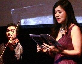 """Thu Hà """"Lá ngọc cành vàng"""" trình diễn tác phẩm của Vi Thùy Linh"""