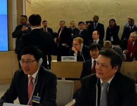 Việt Nam sẵn sàng đóng góp vào các công việc của Hội đồng Nhân quyền