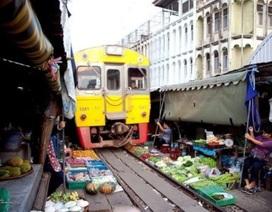 """Khu chợ """"chết người"""" ở Thái Lan"""