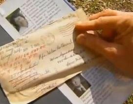 Tìm chủ nhân cho bức thư tình từ Thế chiến thứ 2