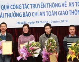 Dân trí đoạt giải Ba báo chí về an toàn giao thông quốc gia