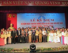 """Nghệ An: 17 sinh viên xuất sắc nhận giải thưởng """"Sao Tháng Giêng"""""""