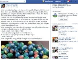 Nam thanh niên ngang nhiên rao bán pháo hoa trên facebook