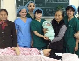 """""""Công dân Ất Mùi 2015"""" đầu tiên chào đời tại BV Phụ sản Hà Nội"""