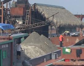 Phát hiện hàng chục tàu hút cát trái phép trên sông Hồng