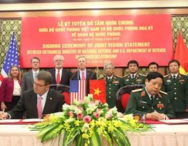 Việt Nam - Hoa Kỳ ký Tuyên bố Tầm nhìn chung về quan hệ quốc phòng