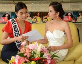 Diễm Hương chia sẻ kinh nghiệm thi Hoa hậu Hoàn vũ cho Trương Thị May